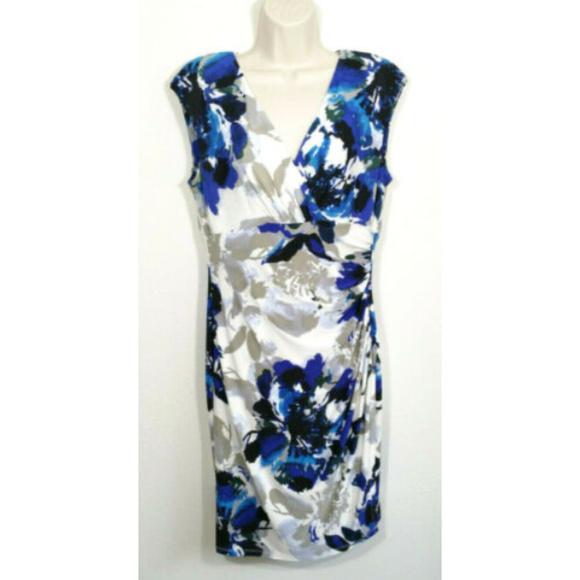 Lauren Ralph Lauren Dresses & Skirts - LAUREN RALPH LAUREN Faux Wrap Sheath Dress 2687E1